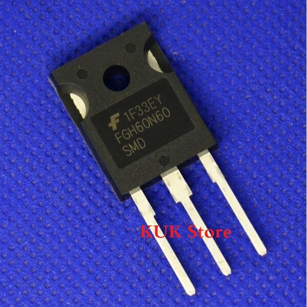 Original 100% NEUE FGH60N60SMD FGH60N60 SMD FGH60N60SMDTU 600V 60A IGBT ZU-247 20 TEILE/LOS