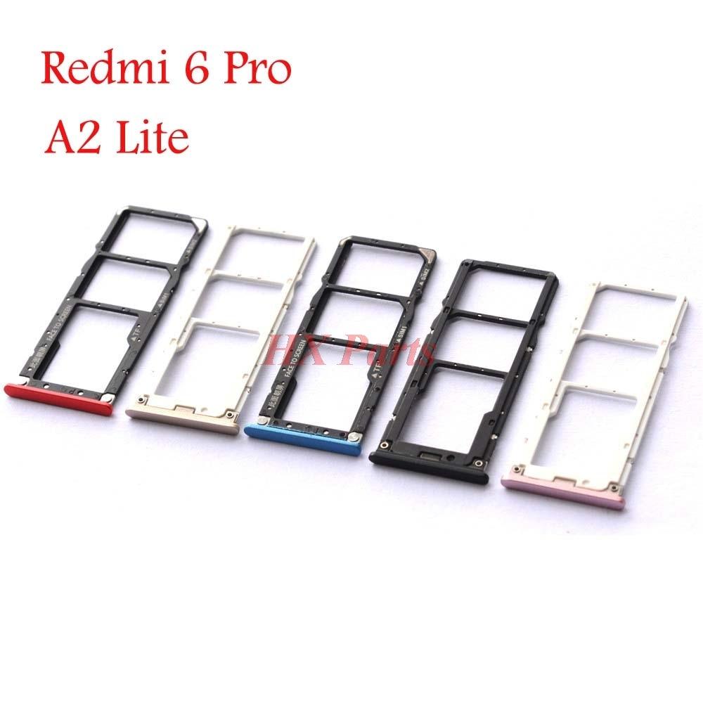 Sim Tray For Xiaomi Redmi 6 Pro / Mi A2 Lite, Redmi S2, Mi Play Sim SD Card Holder Sim SD Card Slot Holder Tray Replacement