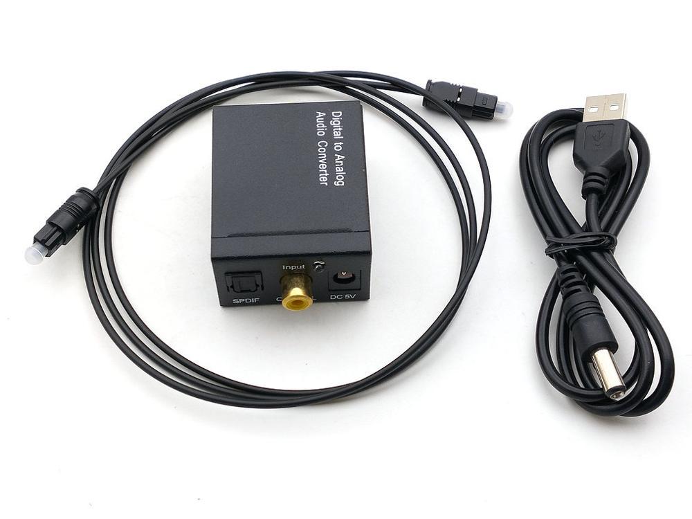 15set 3,5 MM Optische Koaxial Digital zu Analog Audio Converter DAC Digital SPDIF Toslink zu Analog Stereo Audio STECKER