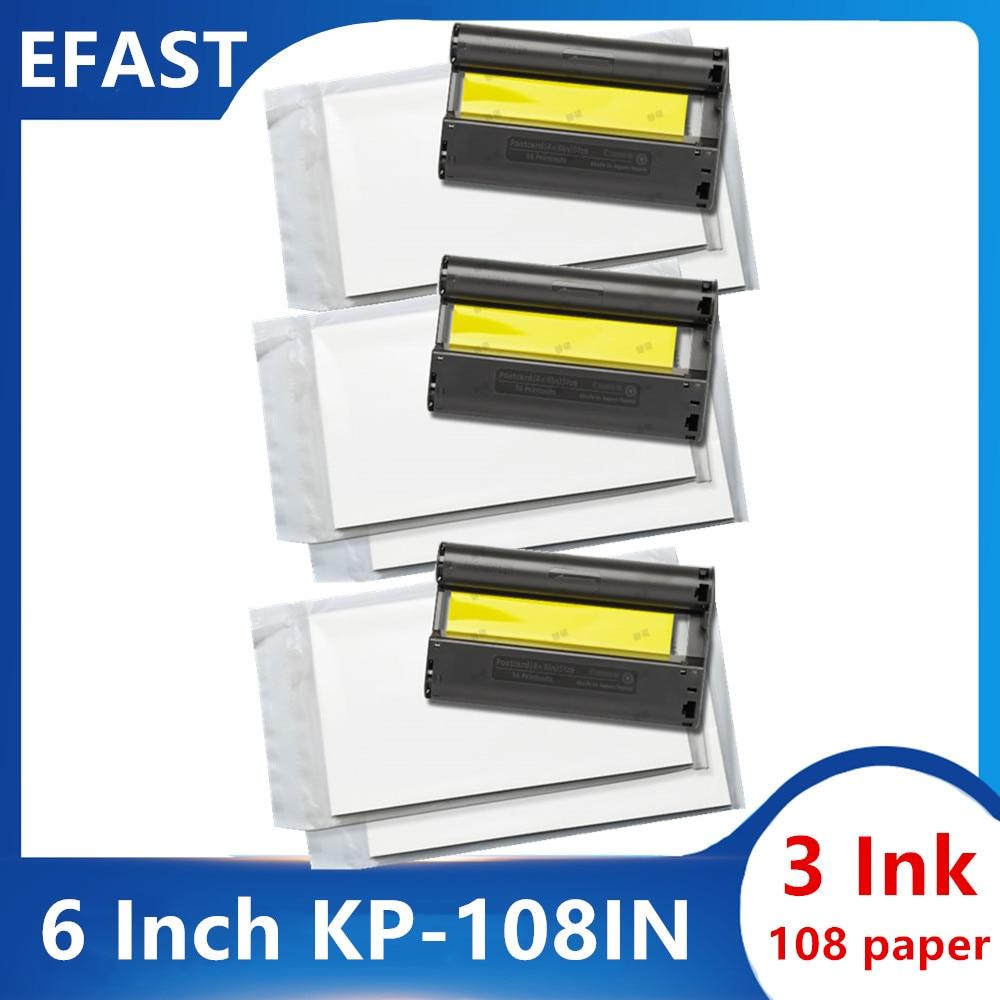 Polegada para Canon SELPHY 6 CP1200 CP1300 CP910 CP900 CP820 ES1 ES2 ES30 CP100 CP200 CP300 CP400 CP500 CP600 CP700 CP720 tinta papel