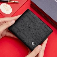williampolo mens leather wallet for bank cards cardholder 2021 luxury credit card holder rfid designer mens purse small