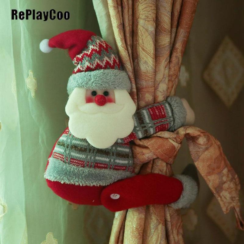 10 pieces / Lot Mini Santa Clau Stuffed Plush Toys Small SantaStuffed Toys pelucia Pendant Kids Birthday Gift Party DMR0100
