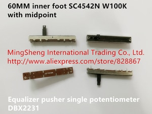 Original new 100% DBX2231 equalizer pusher single potentiometer 6cm inner foot SC4542N W100K with midpoint (SWITCH)