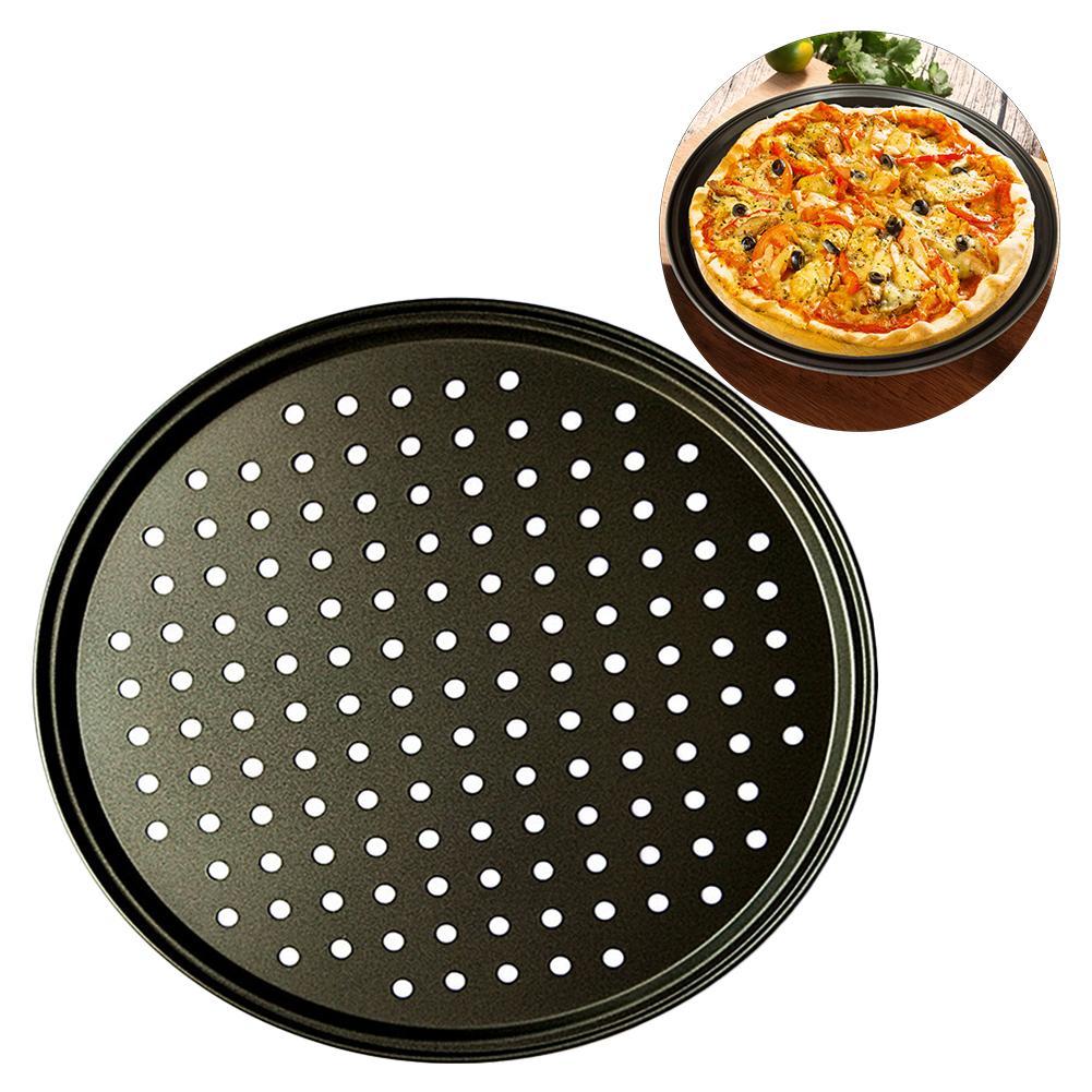 Bandeja para hornear pizzas, de acero al carbono, antiadherente, DIY, para microondas, bandeja de malla, bandeja para hornear, utensilios para el hogar, Cocina, Restaurante