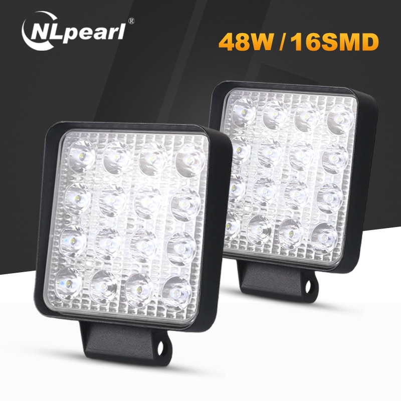Nlpearl 4inch 48w 42w conduziu a barra clara/luz de trabalho que conduz a luz de trabalho combo conduziu a luz do trabalho para 4x4 caminhões offroad atv utv trator 6000k 3000k