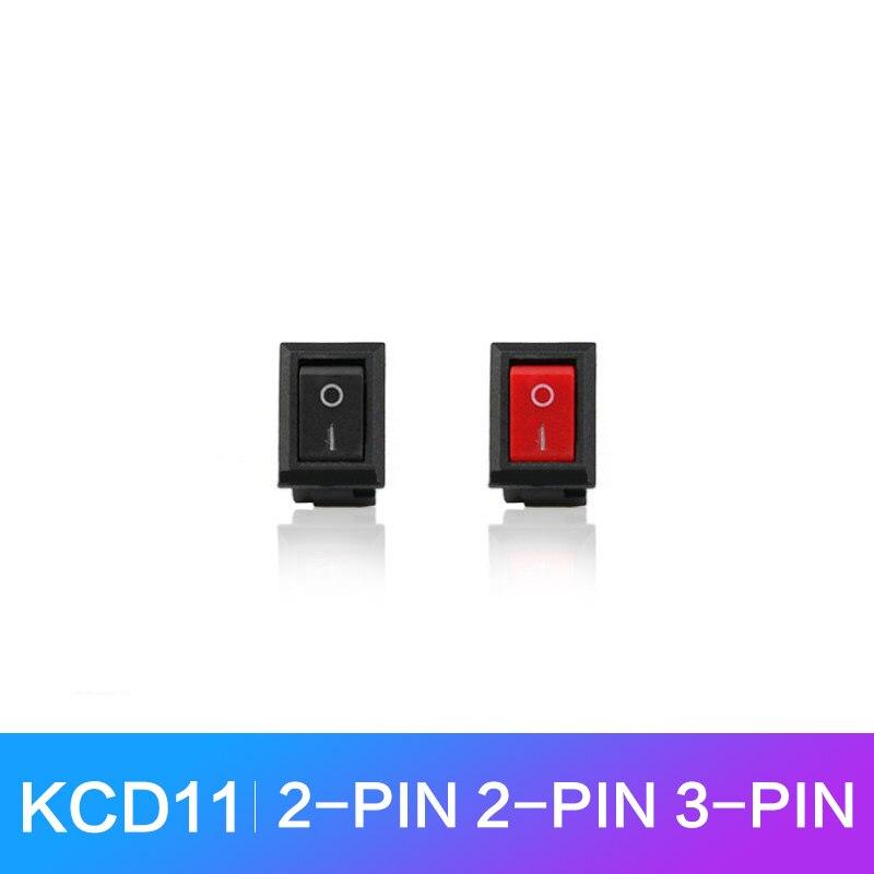 10 шт./лот KCD11 клавишный выключатель 2 / 3 контакта маленькие круглые лодочные клавишные выключатели 3A 15x10 мм Мини кнопочный выключатель ВКЛ/ВЫ...