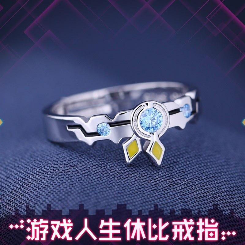 Anime nenhum jogo sem vida zero stephanie dola jibril shuvi dora anel s925 prata esterlina anéis de natal cosplay presente eua tamanho 7/8/9