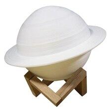 3D Printing Saturn Lamp Moon Lamp 16 Colors Changing USB LED Night Light Sky Planet Moon Light Home