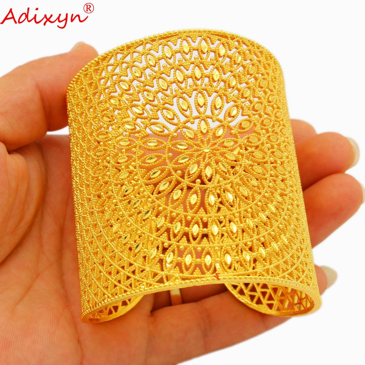Adixyn العصرية Bnagle للنساء مجوهرات 24k الذهب اللون أساور/سوار الأفريقي دبي العربية حزب للأم هدايا N04286