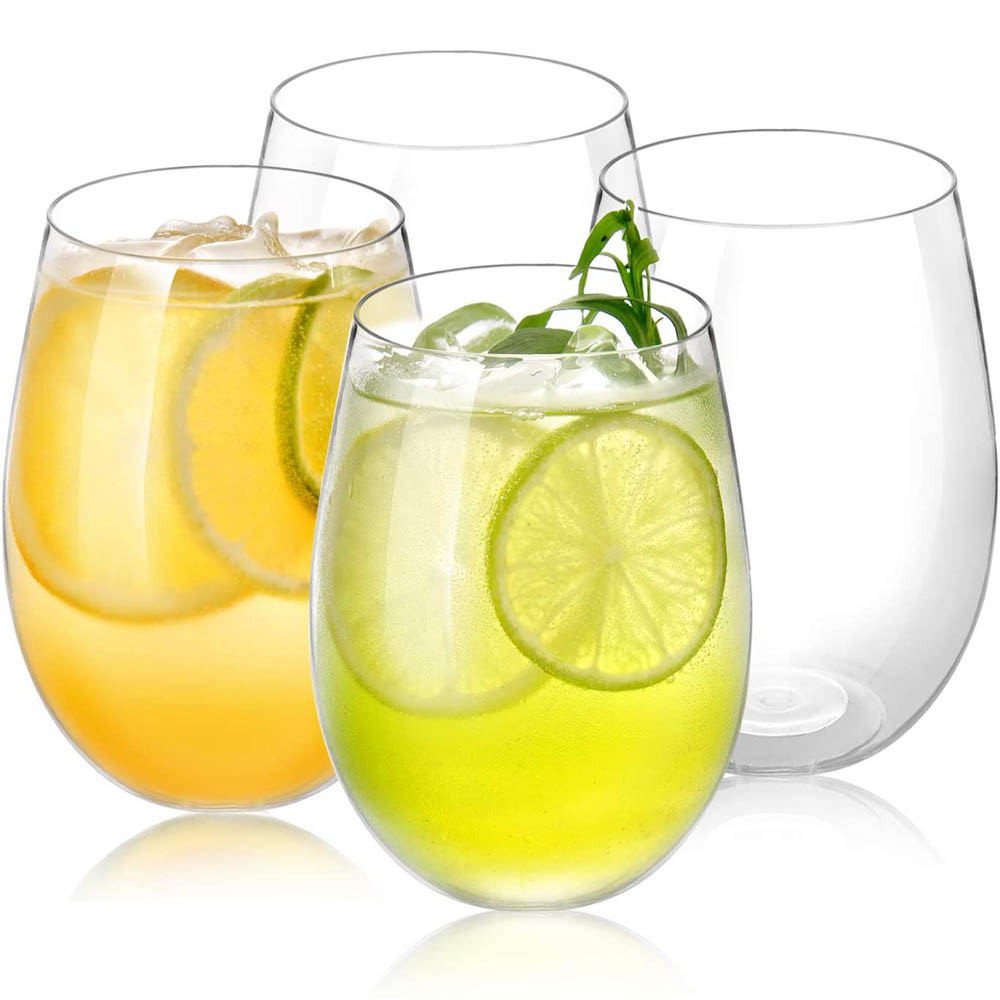 4 قطعة كؤوس مشروبات بلاستيكية يمكن التخلص منها 16 أوقية أكواب حلوى كوكتيل قابلة لإعادة الاستخدام بدون مقابض مناسبة للتجمعات شريط الأسرة