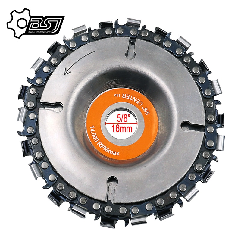 fatcool 22 tooth grinder chain disc wood carving disc 4 inch for 100 115mm angle grinder power tool accessoires 4 Inch Grinder Chain Disc Sculpting Tool 22 Tooth Cut Steel Chain Wood Carving Disc For 100/115 Angle Grinder Abrasive Durable