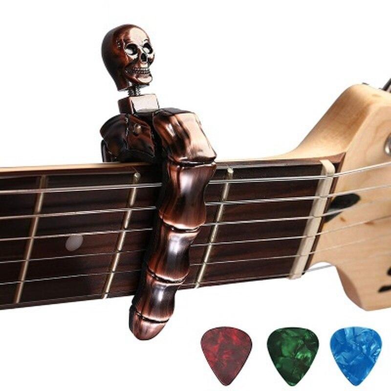 Guitarra Capo hueso Terror acústico ukelele Aroma Clip guitarra exclusiva aleación de Zinc Material piezas accesorios instrumento Musical