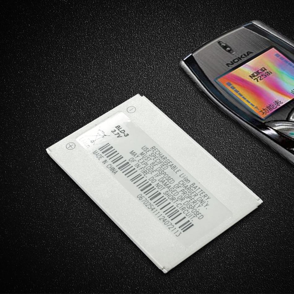 BLD-3 batería para Nokia 2100, 3200 de 3300 I6260 6220 6610 6610i 7210 7250 7250i BLD 3 BLD3 de la batería del teléfono móvil
