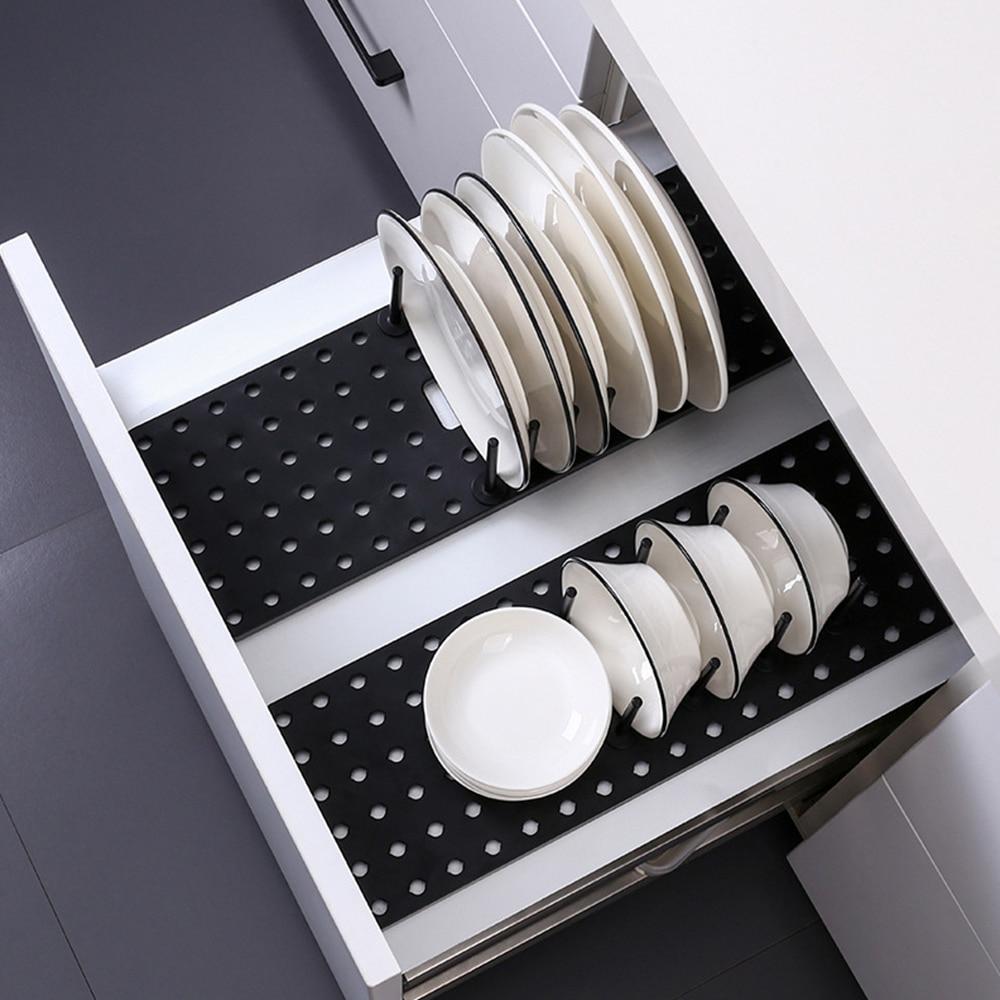Küche Regal Organizer Teleskop Gericht Platte Trocknen Rack Schüssel Topf Deckel Lagerung Halter Einstellbare Küche Teller Trocknen Rack