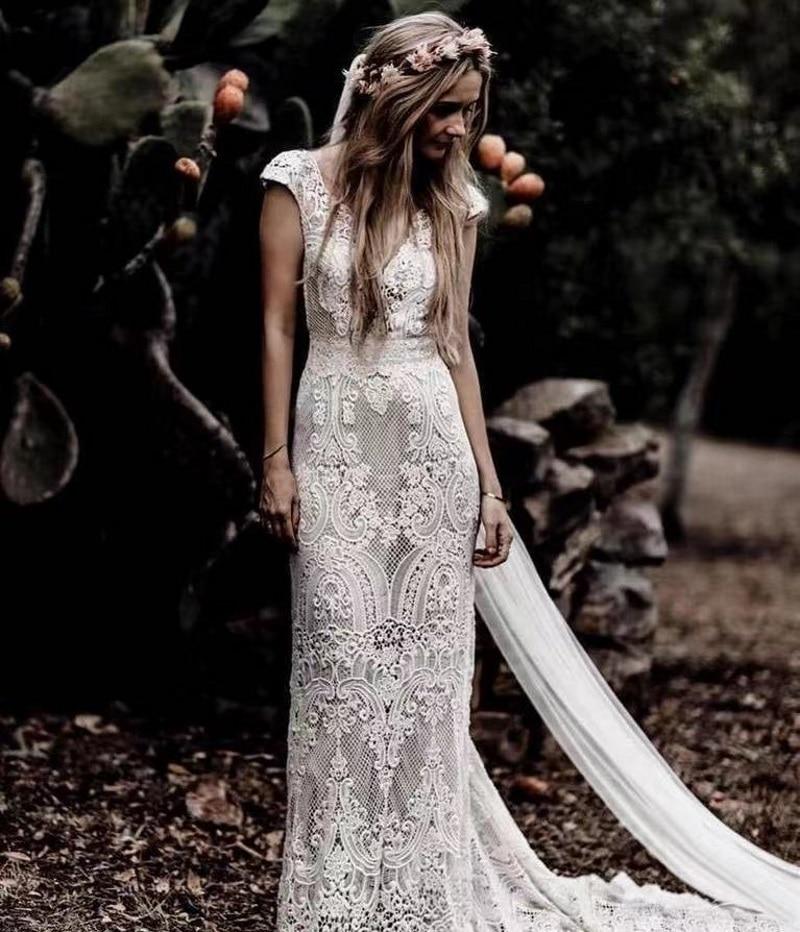 2021-new-style-cap-sleeve-sexy-backless-v-neck-sheath-lace-mermaid-wedding-dresses-vestidos-de-novia-sweep-train