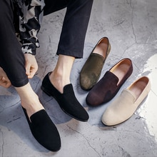 Men Shoes Hot Selling Summer New Fashion Flat Casual Suede Leather Lace-up Stylish for Male Comforta