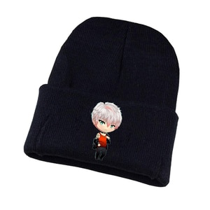 Anime Mystic Messenger Knitted hat Cosplay hat Unisex Print Adult Casual Cotton hat teenagers winter Knitted Cap