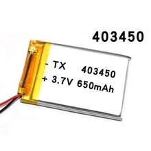 403450 3.7V 650mAH 383450 PLIB polymer lithium ion / Li-ion battery for GPS mp3 mp4 mp5 dvd