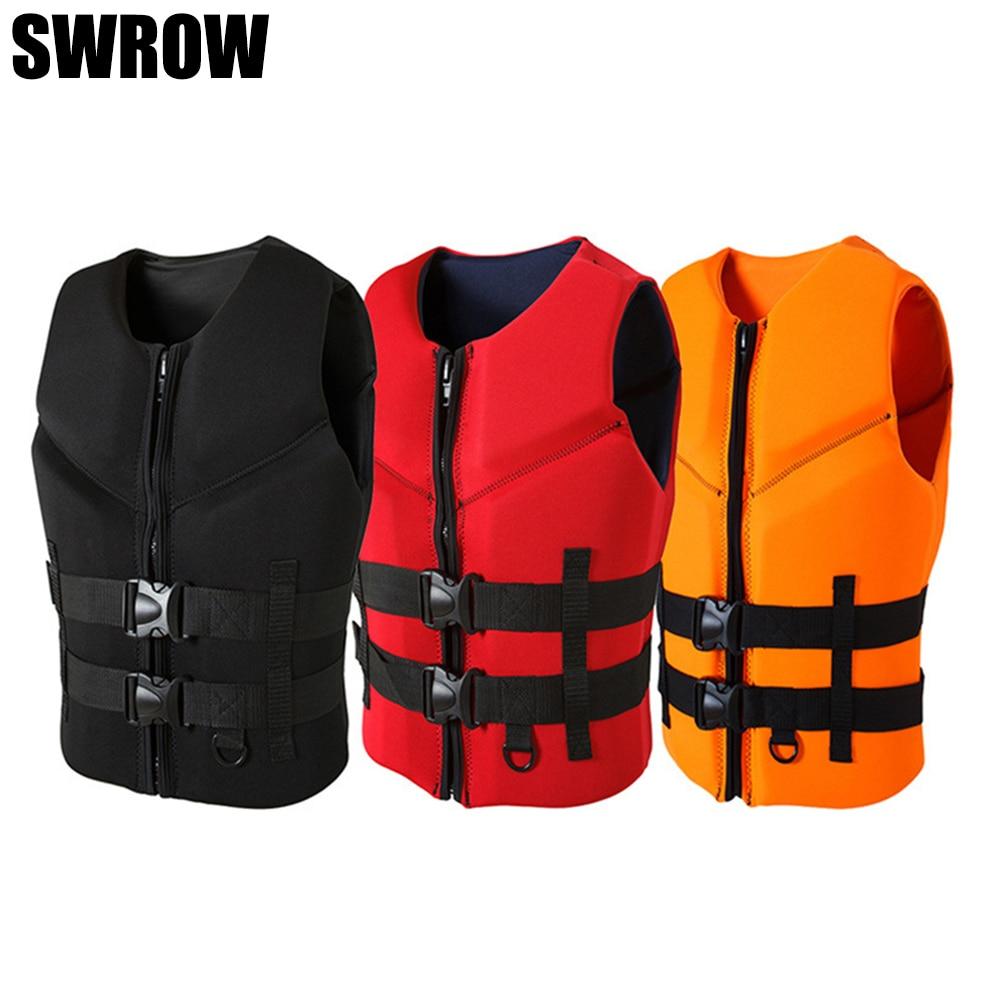 Спасательные жилеты из неопрена для мужчин и женщин, большие плавучие защитные жилеты для мотоциклов, лодок, рыбалки, серфинга, плавания
