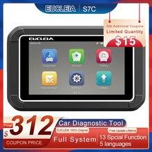 EUCLEIA S7C OBD2 Scanner automobile professionnel système complet lecteur de Code EPB DPF ABS Airbag huile réinitialiser OBD 2 voiture outil de Diagnostic