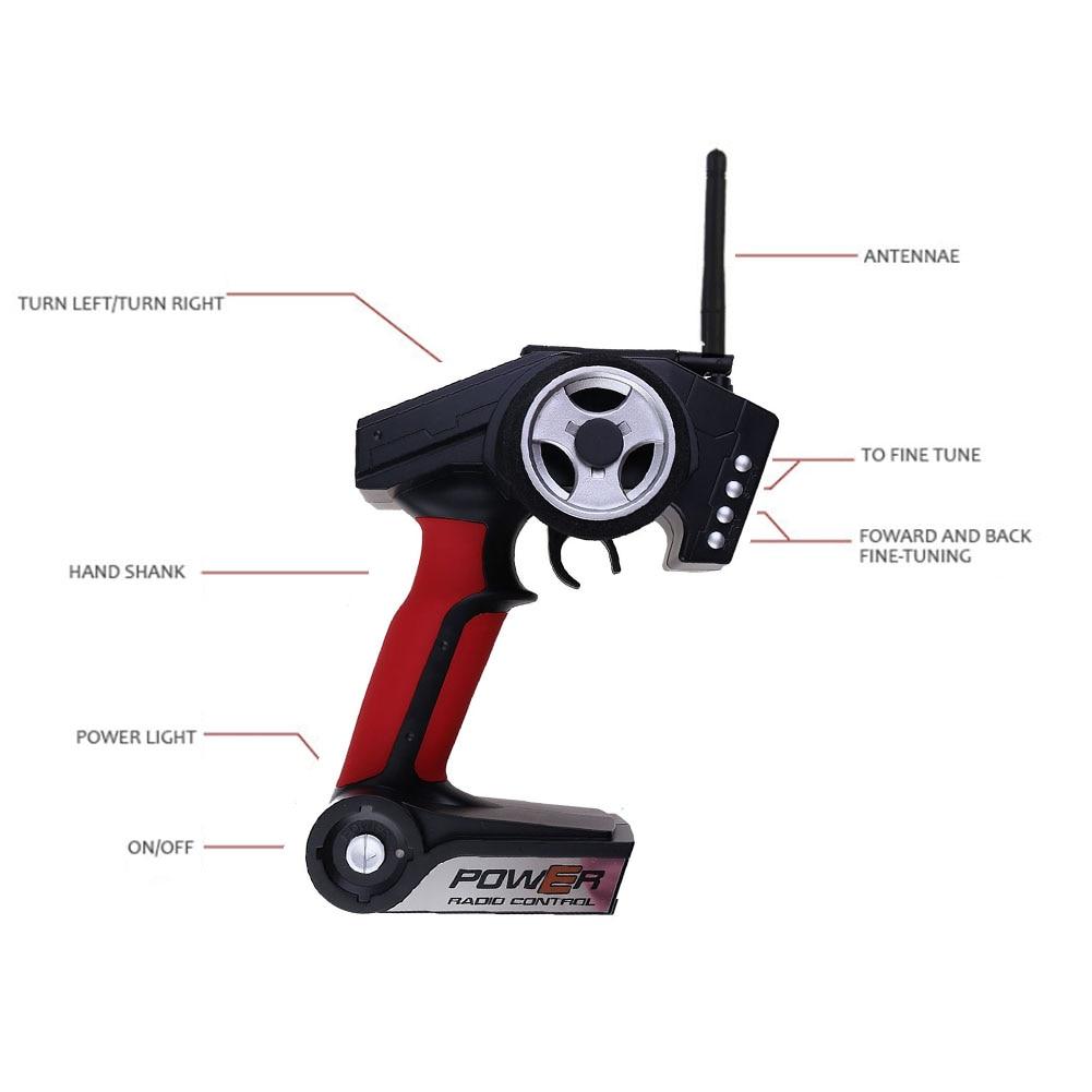 Купить с кэшбэком 2.4GHZ Radio RC Car Remote Controller Transmitter for 1/18 WLtoys A959 4959-B Remote Control Peripherals/Devices