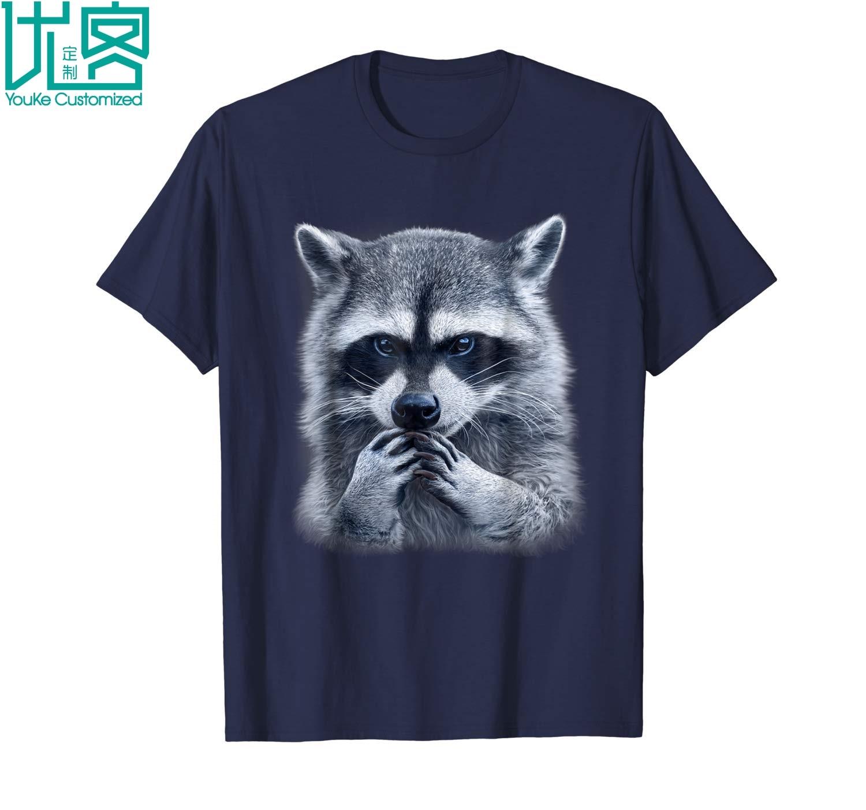 Camiseta de mapache Animal camisa 3d estilo estampado 2019 verano hombres de manga corta Camiseta