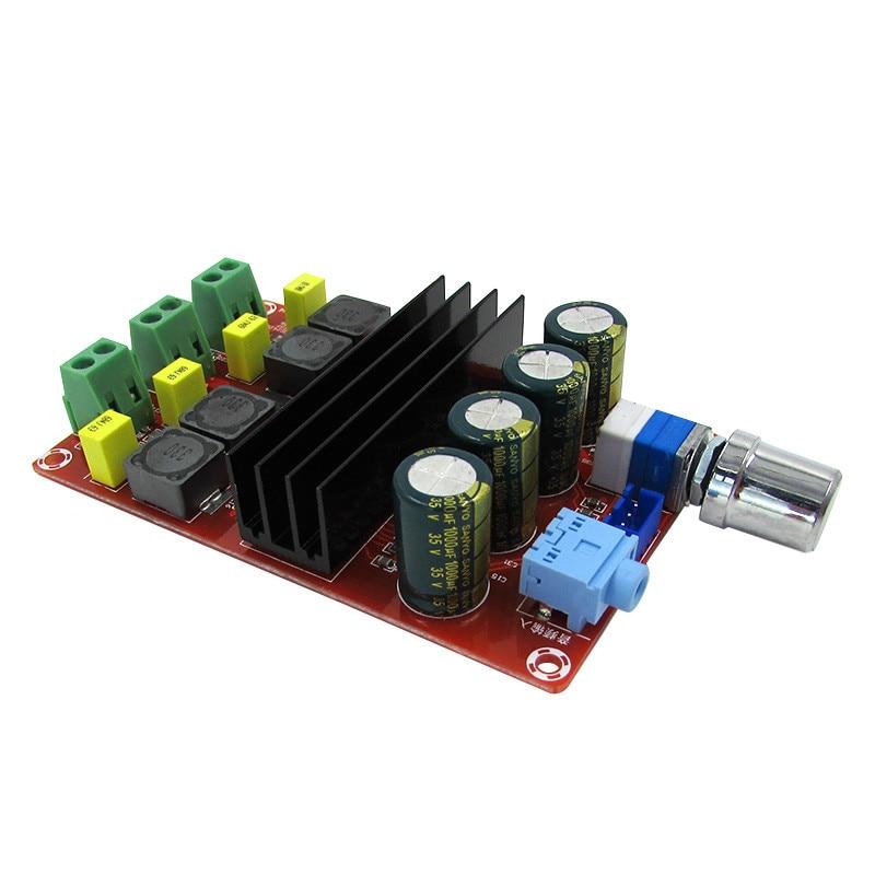Placa de Audio amplificador Digital de XH-M190 tubos TPA3116 amplificador de Audio de potencia Amp 2,0 Clase D amplificador estéreo HIFI DC12-24V 2*100W