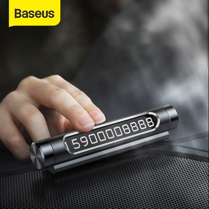 Baseus Автомобильная Временная парковочная карта светящийся номер телефона пластины наклейки для авто ящик стиль автомобиля-Стайлинг кулисный переключатель