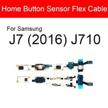 Home Button Sensor Flex Cable For Samsung Galaxy J7 (2016) J710 Menu Return Button Audio Jack Replac