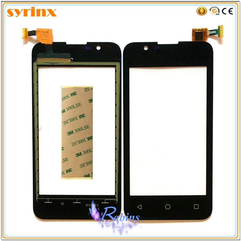 Сенсорный экран SYRINX для BQ BQ-4072 BQ 4072 Strike mini BQS 4072 BQS4072, сенсорный экран, дигитайзер, передняя стеклянная панель, лента 3m