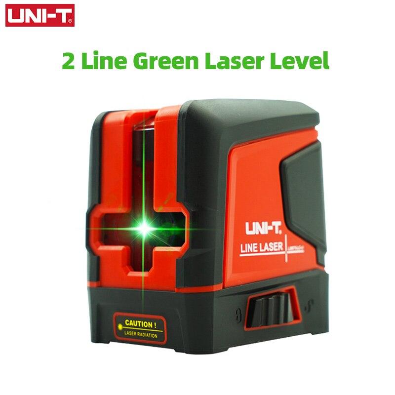 UNI-T مستوى الليزر 2 خطوط شعاع أخضر التسوية الذاتية الرأسي الأفقي عبر خط تخطيط أداة قياس LM570LD-II