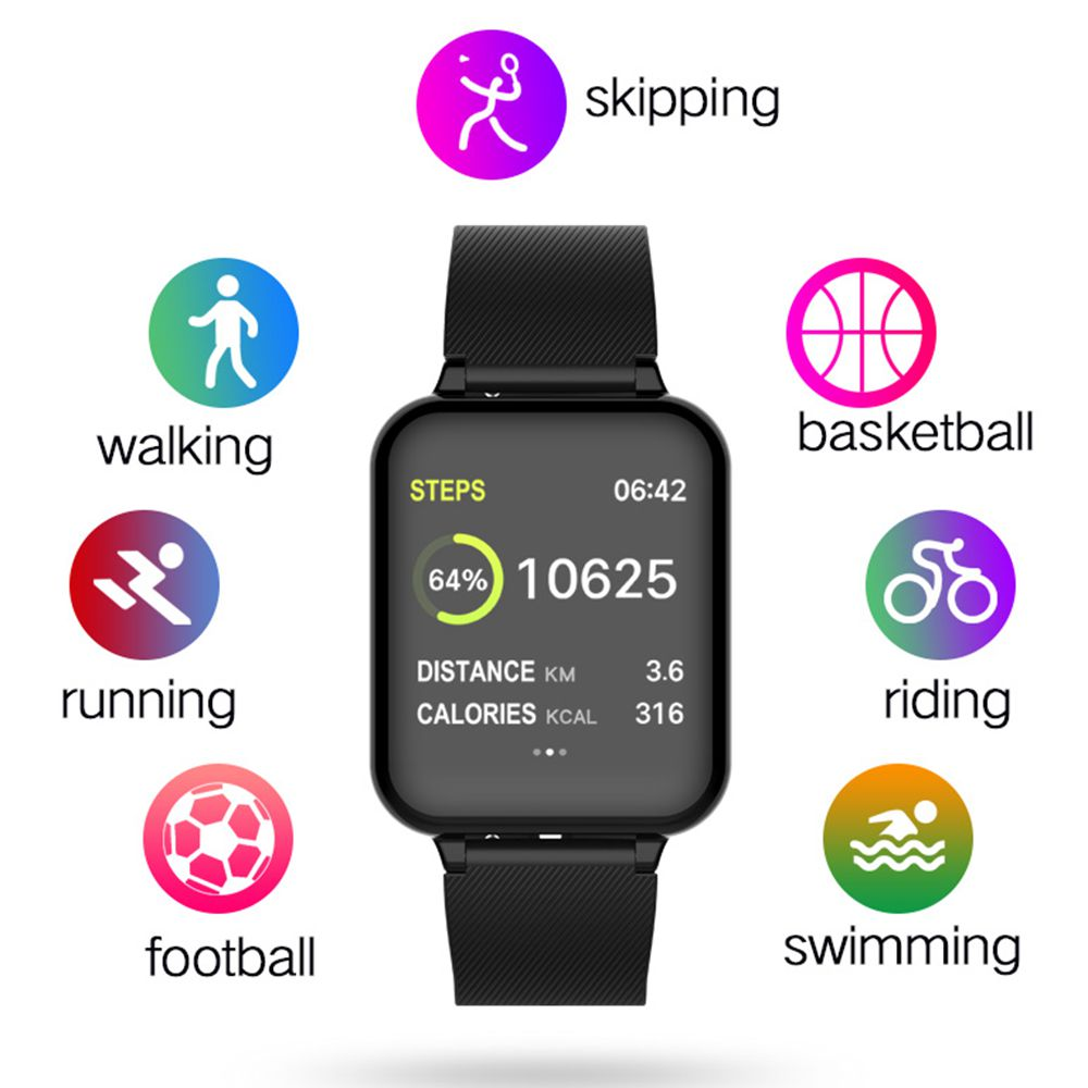 COXANG B57 Smart Watch Men Women Heart Rate Tracker Blood Pressure Pedometer Waterproof Sports B57 Smartwatch For Android Apple