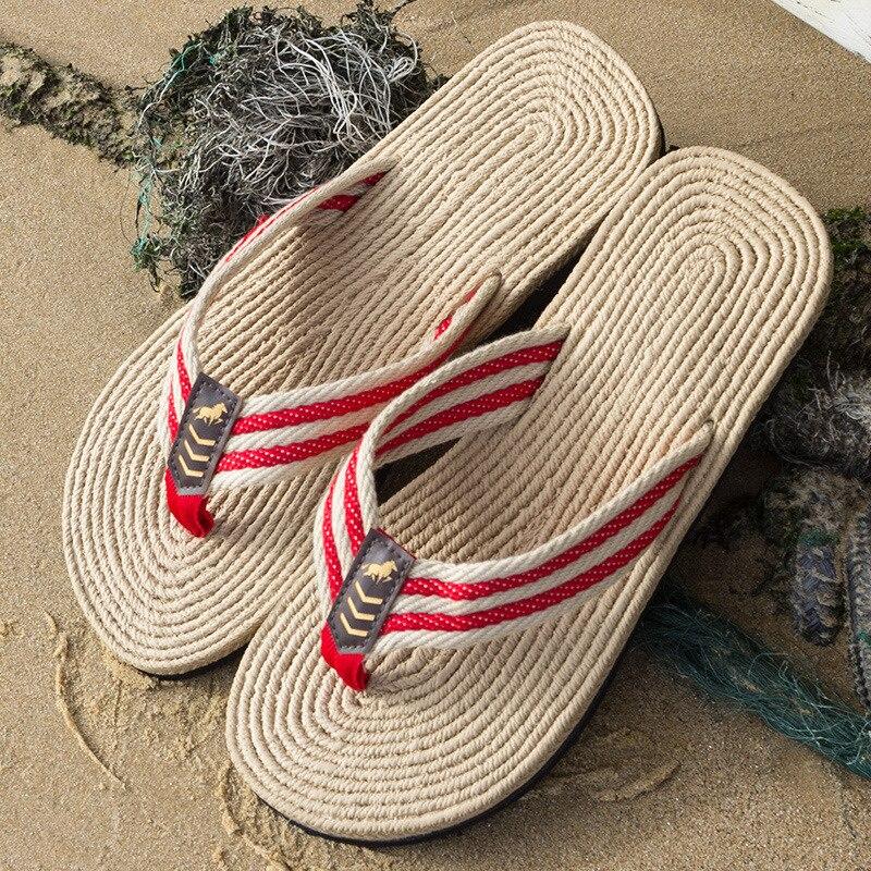 Lino estate donna nuovo prodotto Eva infradito versione coreana maschile di pantofole traspiranti scarpe da spiaggia all'aperto 2021