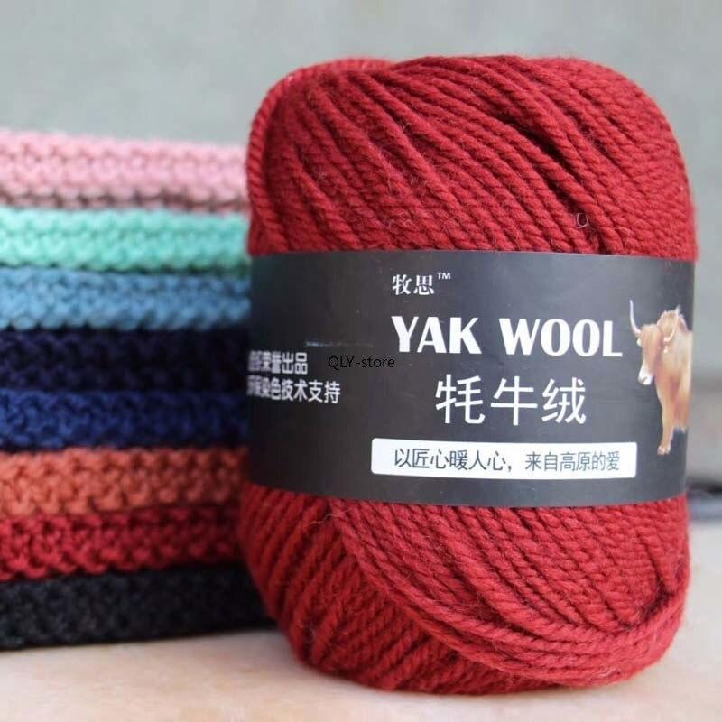 Pacote lenço de lã 5 bolas x 100g yak malha fio de caxemira tricô colorido chunky mão ofício dk suéter toda a qualidade crochê