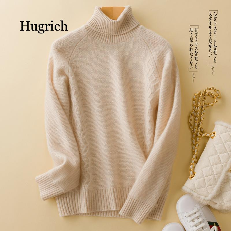 2020 Winter Women Sweater Long Sleeve Black Knitted Sweater Women Turtleneck Pullover Sweater Female Slim Color Solid Jumper enlarge