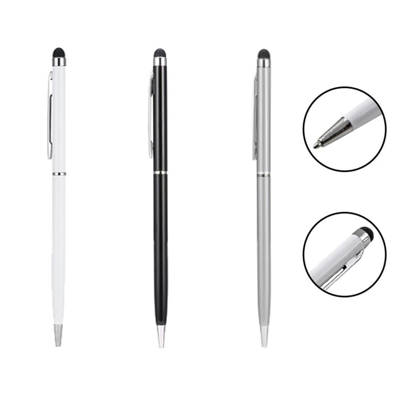 2 em 1 Point Ball Pen Capacitive Touch Screen Stylus para iphone Samsung Xiaomi Huawei Lenovo ipad Tablet Telefone ativo caneta stylus