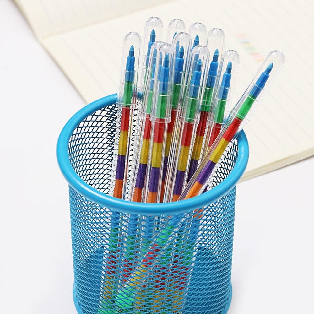 2 uds crayón reemplazable creativo Graffiti plumas Kawaii para niños pintura dibujo arte suministro Premio Colegio Oficina suministro