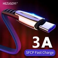 Кабель с разъемом USB-C Type C 3A быстрое зарядное устройство кабель для зарядного устройства Плетеный USB-C кабель 1 м, 2 м, 3 м, для Xiaomi Poco X3 Pro M3 Redmi Note; ...