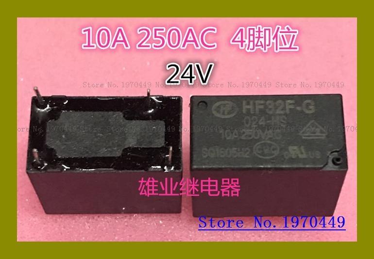 HF32F-G-024-HS 24V 4 10A250VAC