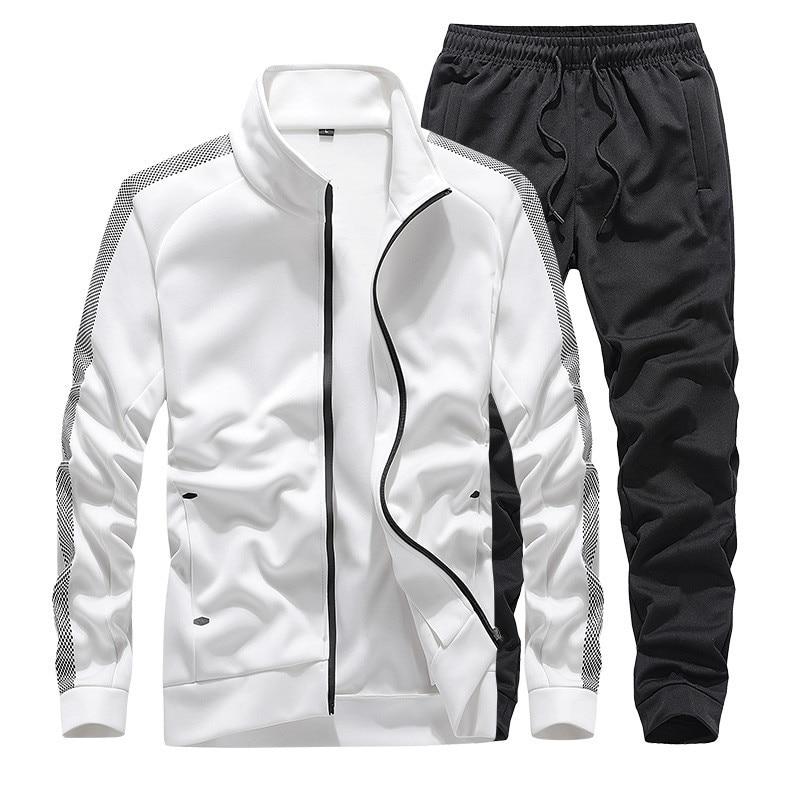 Men'S Sportswear Sets Casual Tracksuit Male Autumn Suits 2 Piece Sweatshirt+Pants Sports Suit Husband Clothing Plus Size 7XL