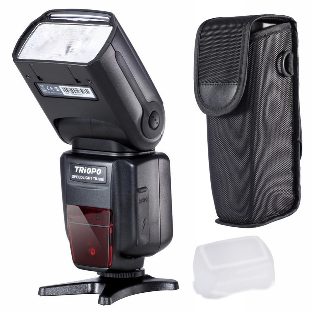 TRIOPO TR-988 Flash Professional Speedlite TTL Camera Flash with High Speed Sync for Canon and Nikon Digital SLR Camera enlarge