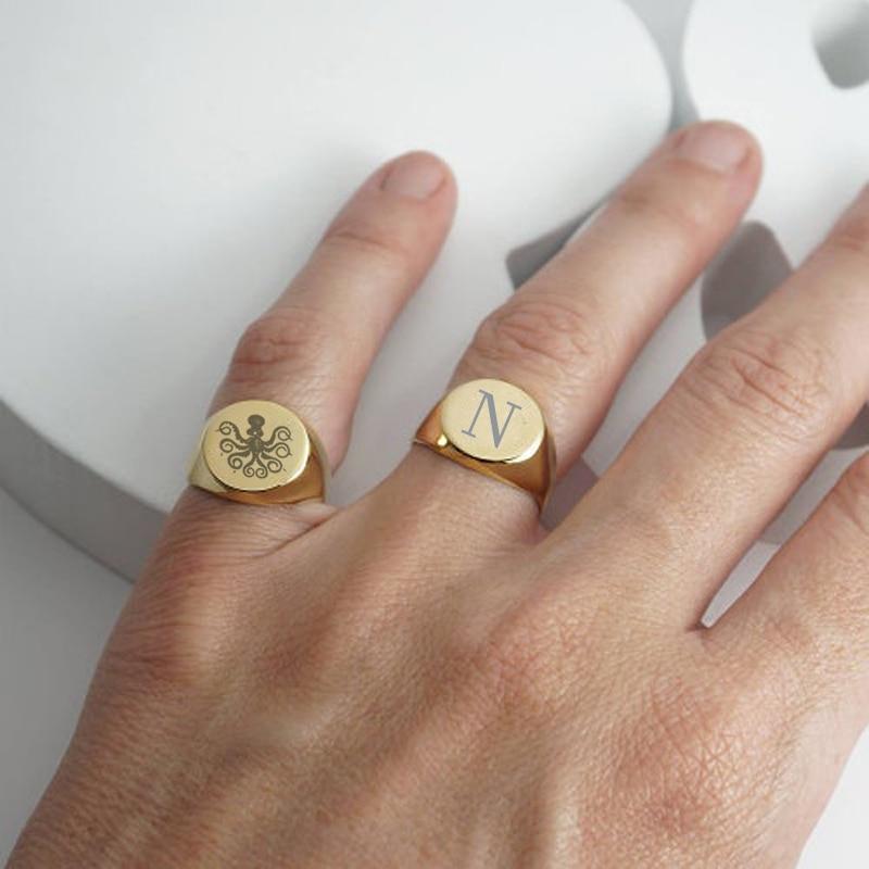 Мужская печатка, кольцо символизирует социальное положение, кольца мизинец, перстень с буквой, кольцо с гравировкой, подарок для мужа недорого