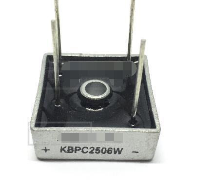 Envío gratis 2 piezas KBPC2506 puente rectificador 25A 600 V multicomp
