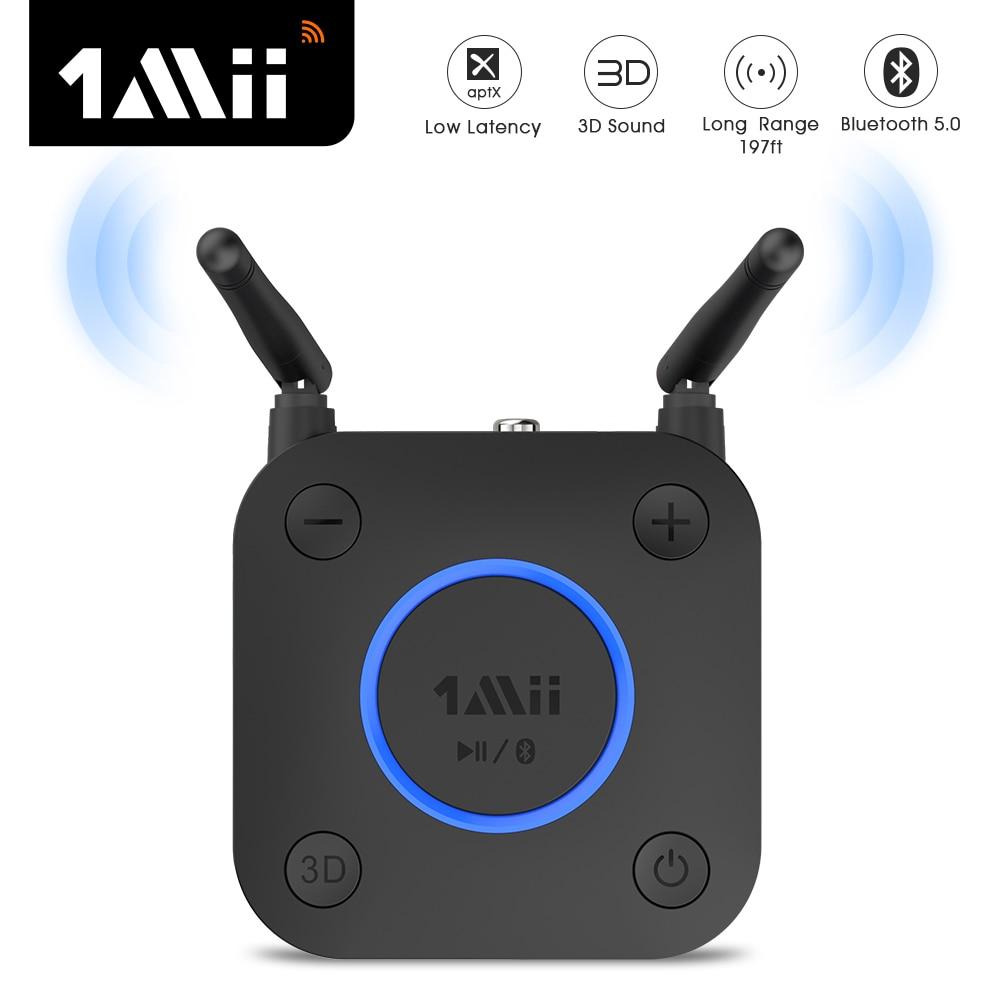 Receptor de Áudio Bluetooth para tv Fone de Ouvido do Carro Bluetooth Aptx ll Música 3d Coaxial – Óptico 2rca 3.5mm Aux Adaptador 1mii B06 Pro 5.0