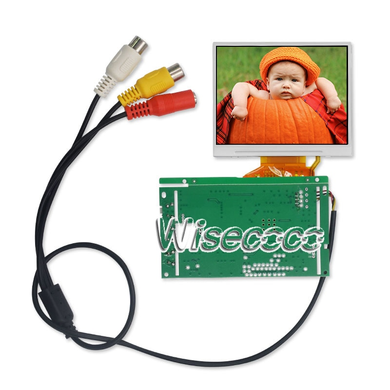 Wisecoco lq035nc111 painel de tela 3.5 polegada 320x240 tft lcd módulo + controlador placa motorista 54 pinos fpc