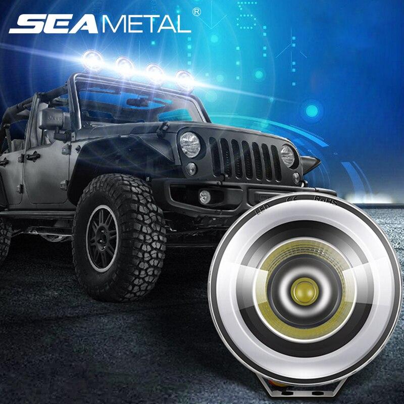 108W 4 Uds foco de trabajo para coche 4X4 Off-Road DRL 12 V/24V Barra de luz LED de obra Combo punto vigas para 4WD camión Tractor de remolque de barco ATV SUV