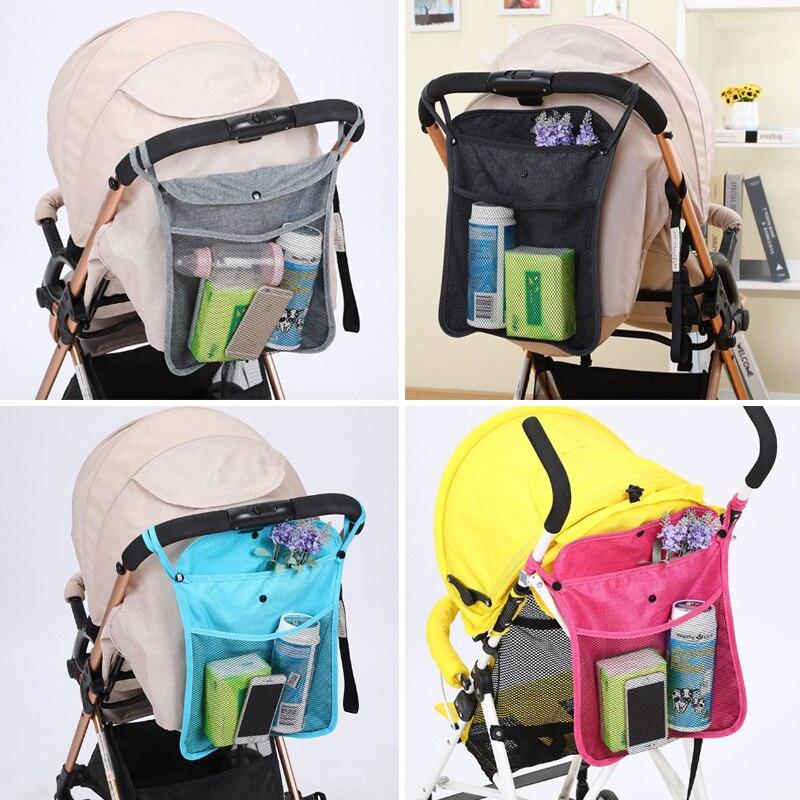 Сумка для коляски, корзина для коляски, сетчатая подвесная сумка для хранения, сумка для детской коляски, органайзер для коляски, сумка для к...