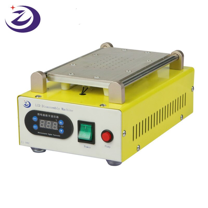 ZJ-1902 LCD Separator Build-In Vaccum Pump Touch Screen Separating Machine For IPhone SAMSUNG Touch Screen Glass Max 7 inches