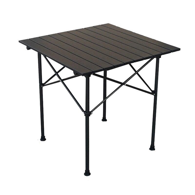 Mesa Plegable portátil de aleación de aluminio para exteriores, Mesa Plegable para...