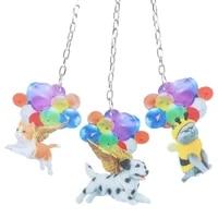 Decoration suspendue de voiture  1 piece  dessin anime  Animal mignon  avec ballon colore  pour la maison